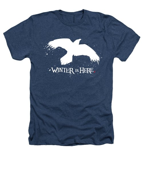 Winter Is Here - Large Raven Heathers T-Shirt