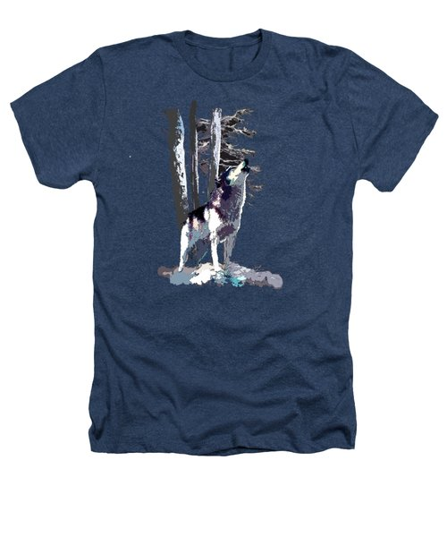 Wolf  Howling Memory Heathers T-Shirt
