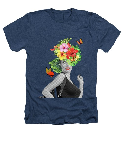 Woman Floral  Heathers T-Shirt