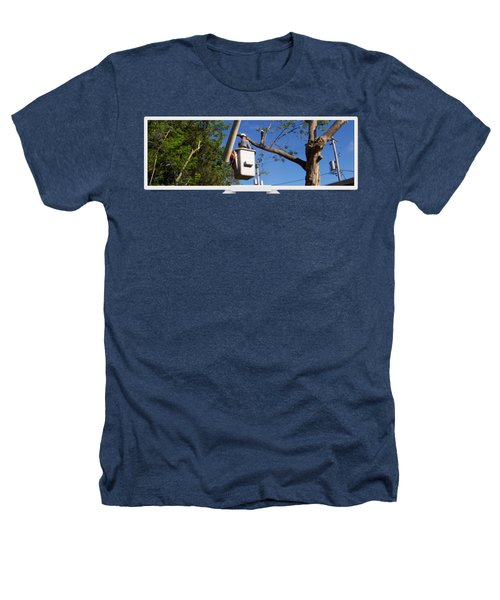 Woodland Tree Service Heathers T-Shirt by Evergreenarborists