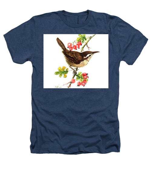 Wren And Rosehips Heathers T-Shirt by Nell Hill