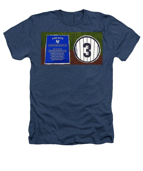 Yankee Legends Number 3 Heathers T-Shirt by David Lee Thompson