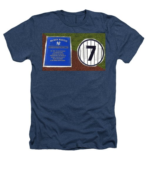 Yankee Legends Number 7 Heathers T-Shirt by David Lee Thompson
