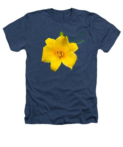 Yellow Daylily Flower Heathers T-Shirt