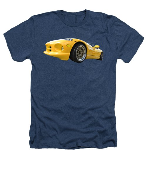 Yellow Viper Rt10 Heathers T-Shirt by Gill Billington