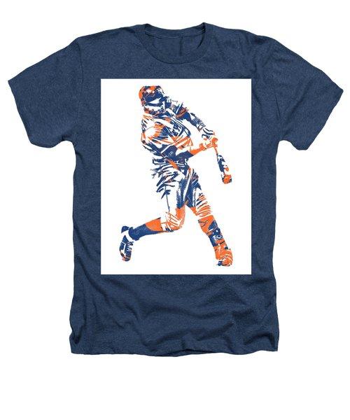Yoenis Cespedes New York Mets Pixel Art 1 Heathers T-Shirt