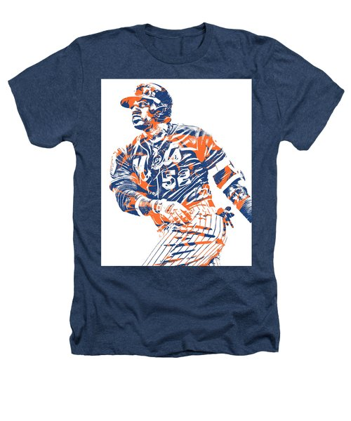 Yoenis Cespedes New York Mets Pixel Art 10 Heathers T-Shirt
