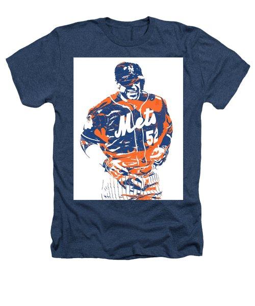 Yoenis Cespedes New York Mets Pixel Art 3 Heathers T-Shirt