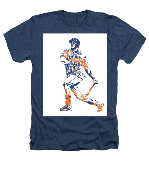 Yoenis Cespedes New York Mets Pixel Art 4 Heathers T-Shirt
