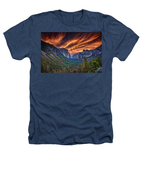 Yosemite Fire Heathers T-Shirt by Rick Berk