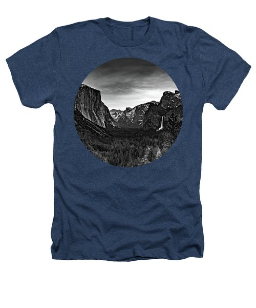 Yosemite Sunrise, Black And White Heathers T-Shirt