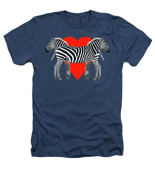 Zebra Love Heathers T-Shirt