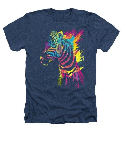 Zebra Splatters Heathers T-Shirt by Olga Shvartsur