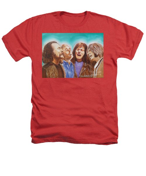 Crosby Stills Nash And Young Heathers T-Shirt by Kean Butterfield