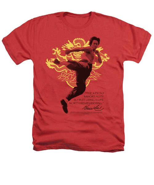 Bruce Lee - Immortal Dragon Heathers T-Shirt by Brand A