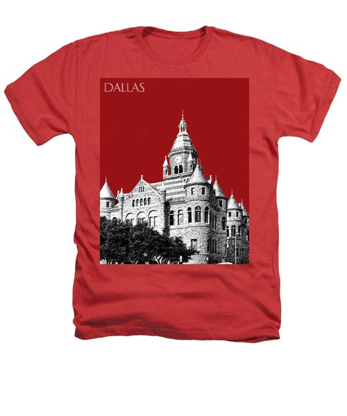 Dallas Skyline Old Red Courthouse - Dark Red Heathers T-Shirt