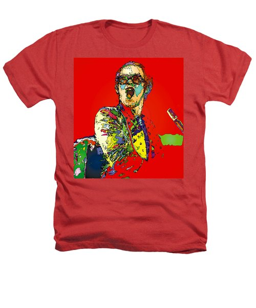 Elton In Red Heathers T-Shirt by John Farr