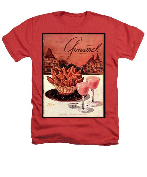 Gourmet Cover Featuring A Basket Of Potato Curls Heathers T-Shirt