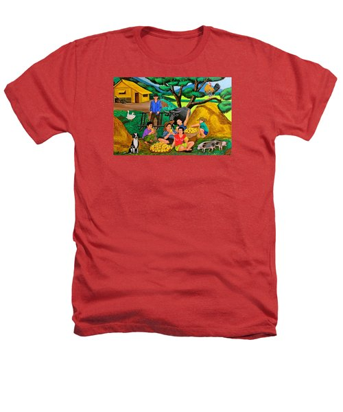 Harvest Time Heathers T-Shirt by Cyril Maza