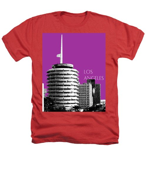 Los Angeles Skyline Capitol Records - Plum Heathers T-Shirt