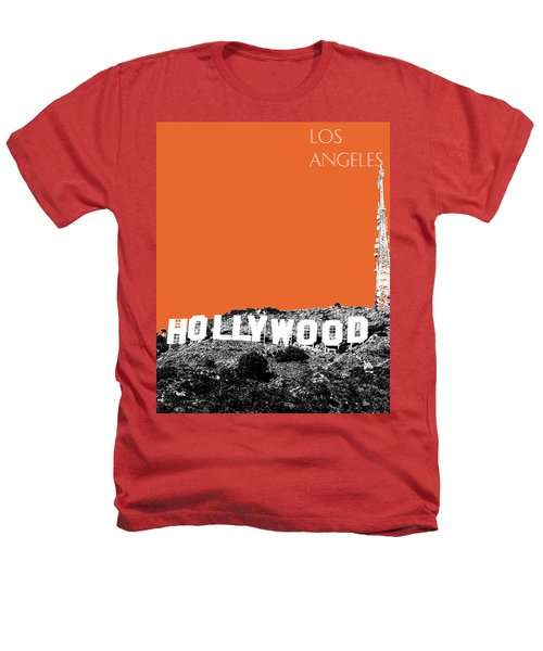 Los Angeles Skyline Hollywood - Coral Heathers T-Shirt