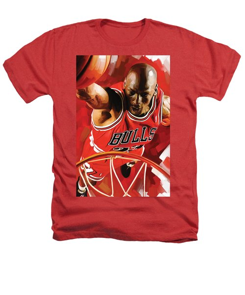 Michael Jordan Artwork 3 Heathers T-Shirt