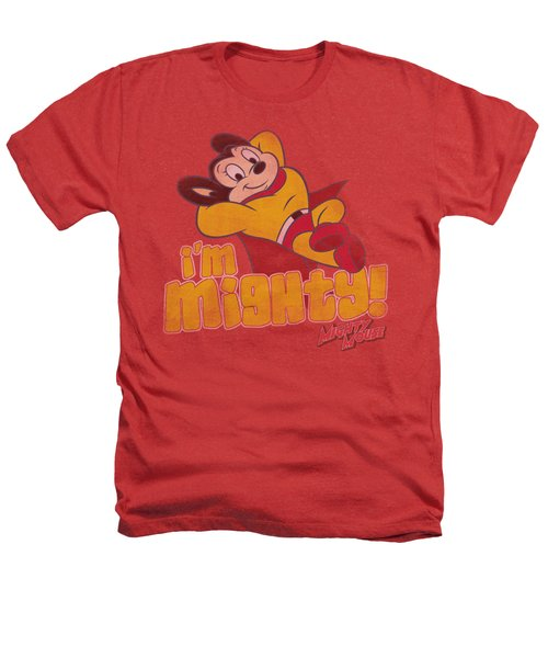 Mighty Mouse - I'm Mighty Heathers T-Shirt by Brand A