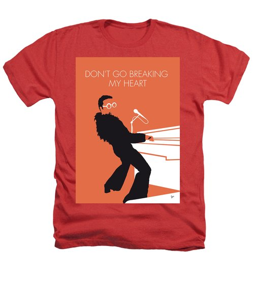 No053 My Elton John Minimal Music Poster Heathers T-Shirt by Chungkong Art
