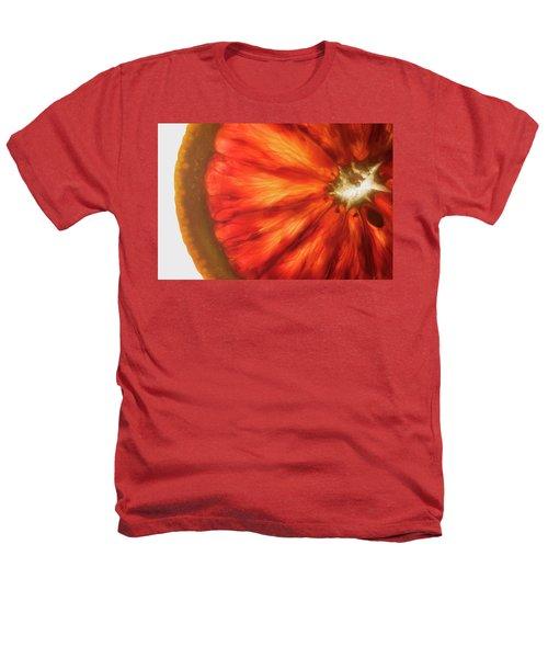 Pink Grapefruit, Back-lit Heathers T-Shirt