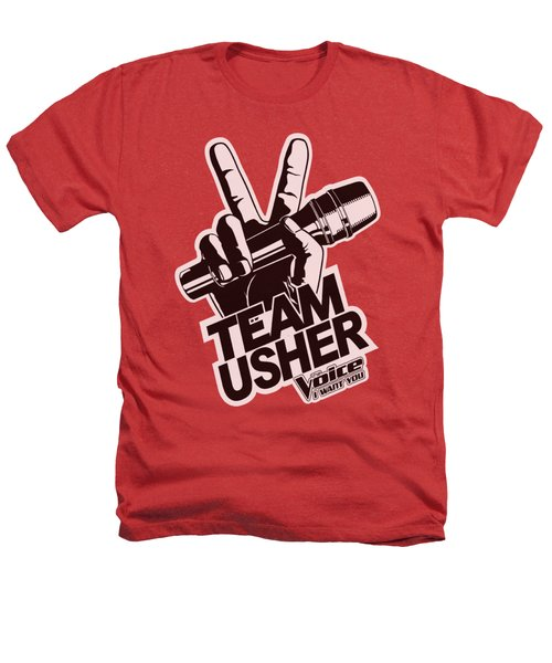 The Voice - Usher Logo Heathers T-Shirt by Brand A
