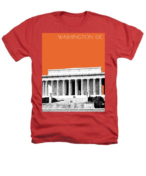 Washington Dc Skyline Lincoln Memorial - Coral Heathers T-Shirt