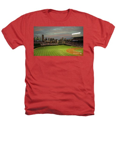Wrigley Field At Dusk Heathers T-Shirt