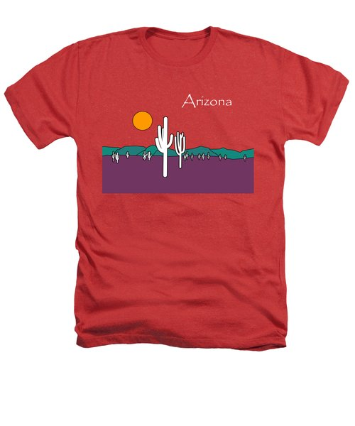 Desert Sunset Heathers T-Shirt by Methune Hively