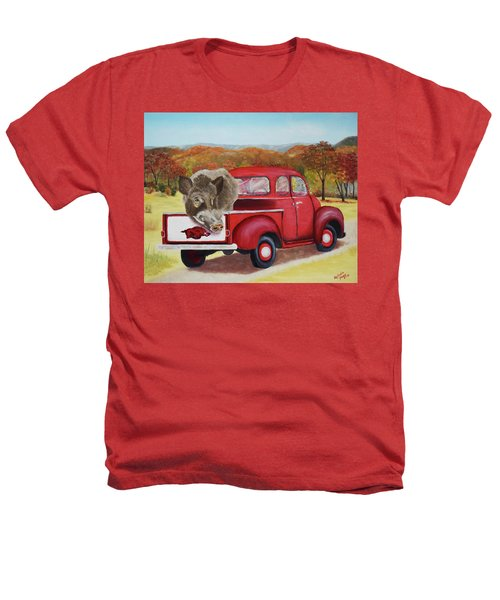 Ridin' With Razorbacks 2 Heathers T-Shirt by Belinda Nagy