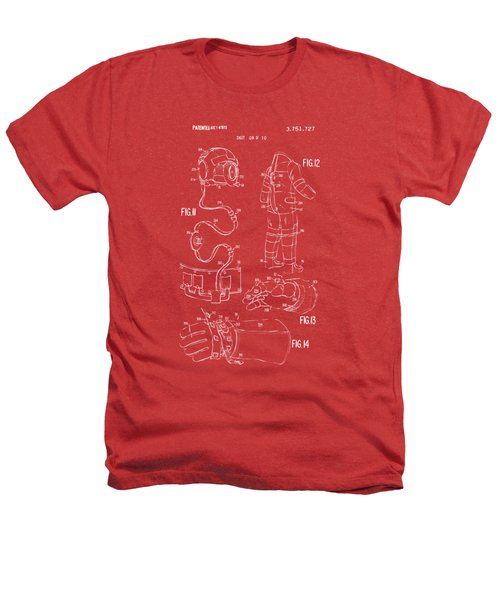 1973 Space Suit Elements Patent Artwork - Red Heathers T-Shirt by Nikki Marie Smith