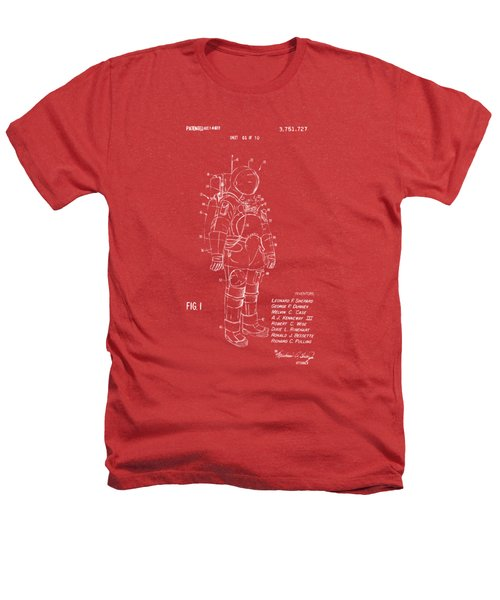 1973 Space Suit Patent Inventors Artwork - Red Heathers T-Shirt by Nikki Marie Smith