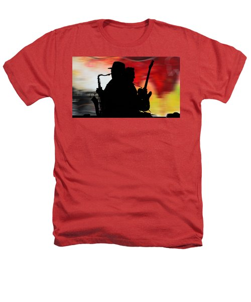 Bruce Springsteen Clarence Clemons Heathers T-Shirt by Marvin Blaine