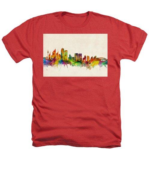 Sydney Australia Skyline Heathers T-Shirt by Michael Tompsett