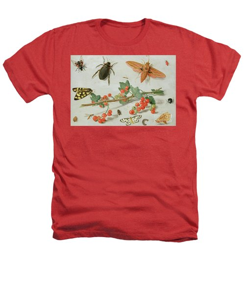 A Sprig Of Redcurrants With An Elephant Hawk Moth, A Magpie Moth And Other Insects, 1657 Heathers T-Shirt