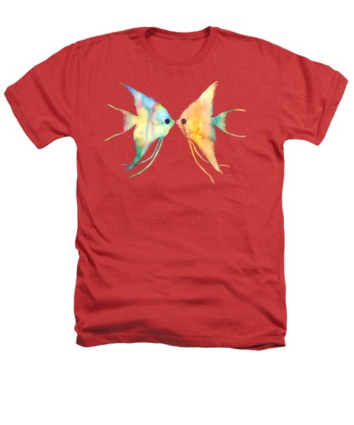 Angelfish Kissing Heathers T-Shirt by Hailey E Herrera