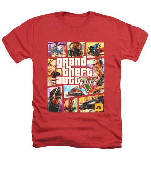 Gta V Box Art Cover Colored Drawing Heathers T-Shirt