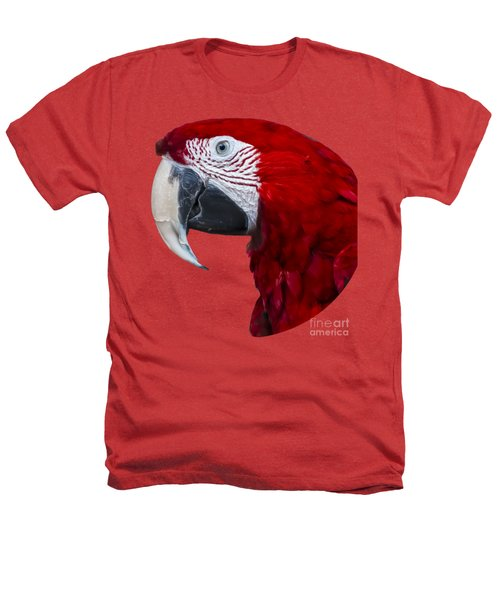 Red Macaw Heathers T-Shirt by Mark Myhaver
