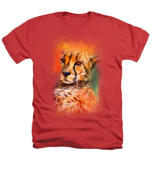 Colorful Expressions Cheetah Heathers T-Shirt by Jai Johnson
