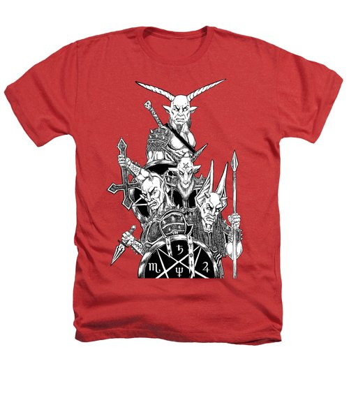 The Infernal Army White Version Heathers T-Shirt by Alaric Barca