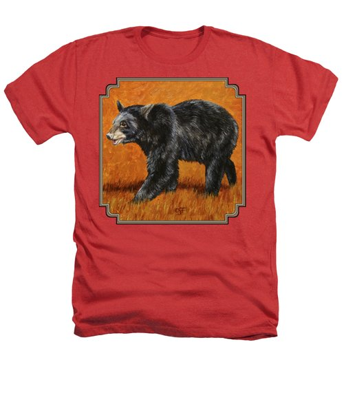 Autumn Black Bear Heathers T-Shirt by Crista Forest