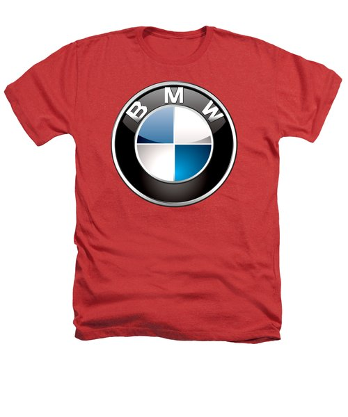B M W Badge On Red  Heathers T-Shirt by Serge Averbukh
