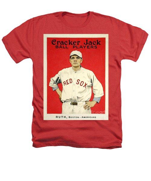Babe Ruth Cracker Jack Card Heathers T-Shirt by Jon Neidert