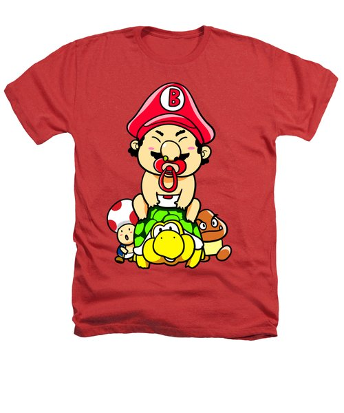 Baby Mario And Friends Heathers T-Shirt