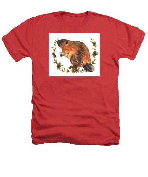 Beaver Painting Heathers T-Shirt by Alison Fennell