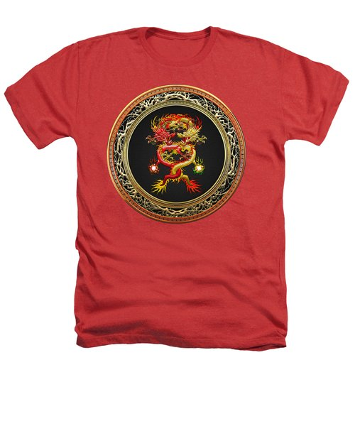 Brotherhood Of The Snake - The Red And The Yellow Dragons On Red Velvet Heathers T-Shirt